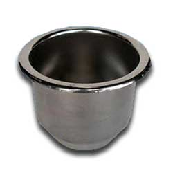 Stainless Recessed Cup Holder