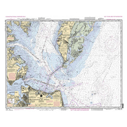 NOAA Training Chart: Chesapeake Bay Entrance 12221TR - PCP edition