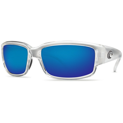 Caballito Sunglasses, Crystal Frames with Costa 400 Blue Mirror Glass Lenses
