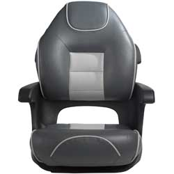 Ultimate Elite Captains Helm Seat, Charcoal/Gray