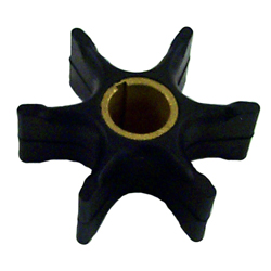 "Impeller - Dia. 3 1/2"",Dpth. 1 1/4"" - 6 Fins - Neoprene - Key for Johnson/Evinrude Outboard Motors"