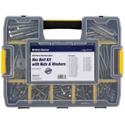 348-Piece Stainless Steel Hex Bolt Kit