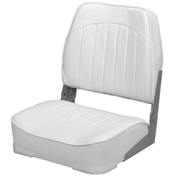 Promotional Low-Back Folding Fishing Boat Seat, White