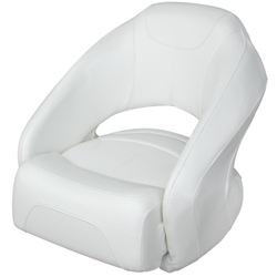 Cruiser/Run-A-Bout Ski Boat Bucket Seat, White
