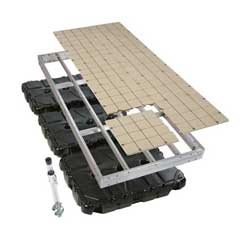Floating Dock Kit, 4' x 10', Aluminum, Resin Deck