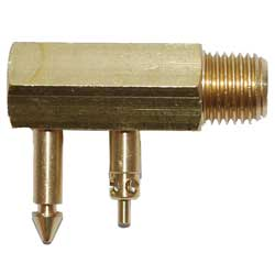 "Fuel Line Connector for Johnson & Evinrude Applications, 1/4"" NPT, Male"