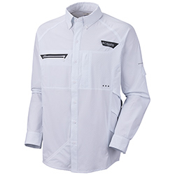 Columbia Men's Airgill Chill Zero Long-sleeve Shirt; White; 2xl