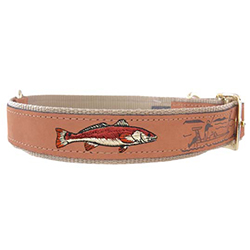 Redfish Embroidered Dog Collar