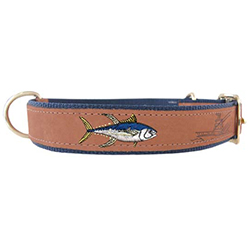 Yellowfin Embroidered Dog Collar