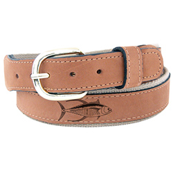 Men's Yellow Fin Tuna Embossed Belt