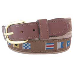 Men's Captain Code Flag Ribbon Belt