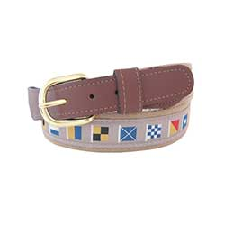 Men's Code Flag Ribbon Belt