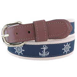 Men's Anchor and Wheel Belt