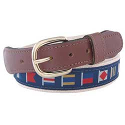 Men's Code Flags Ribbon Belt