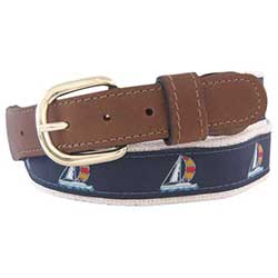 Men's Sailboat Ribbon Belt