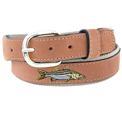 Men's Snook Embroidered Belt