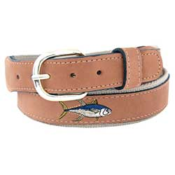 Men's Yellow Fin Tuna Embroidered Belt