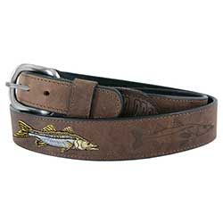 Men's All Leather Snook Belt