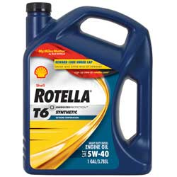 Rotella T6 Synthetic Engine Oil, Gal.