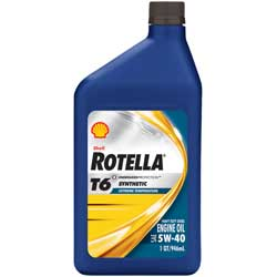 Rotella T6 Synthetic Engine Oil, Quart
