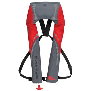 Inshore Automatic/Manual Inflatable Life Jacket, Red