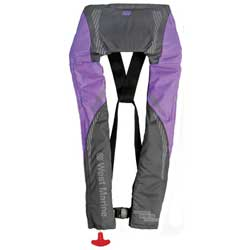 Inshore Automatic/Manual Inflatable Life Jacket, Lavender