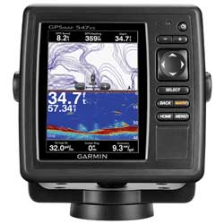 GPSMAP 547xs Fishfinder/GPS Combo, US Coastal/Inland Cartography, No Transducer