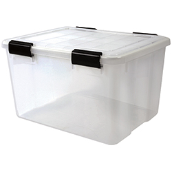 46.6 qt. Water Tight Storage Box, Clear