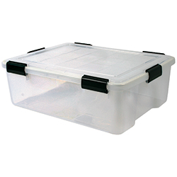 41.2 qt. Water Tight Storage Box, Clear