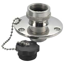 "Water Inlet & Outlet Fittings, 3/4""GHTF with Cap"
