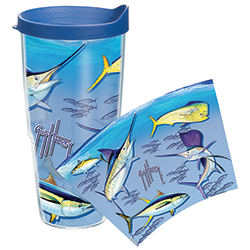 Guy Harvey Big Game 24 oz. Wrap Tumbler, With Lid