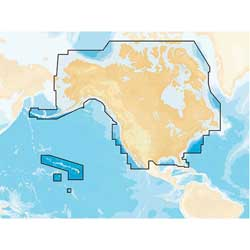 Navionics+ Preloaded Coastal and Inland Chart for US and Canada, CF Card