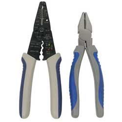 Linesman Pliers & Stripper/Crimper Set