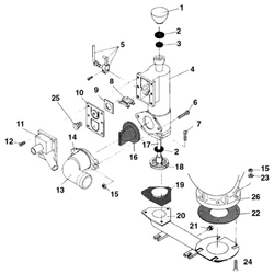 Groco Head Pump Assembly for HE and HF Heads