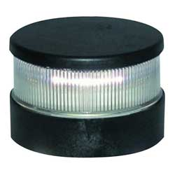 Series 34 LED Navigation Light, All Round White, Black Housing