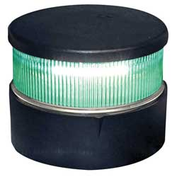 Series 34 LED Navigation Light, All Round Green, Black Housing