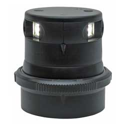 Series 34 LED Navigation Light, Masthead White, Black Housing