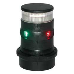 Series 34 LED Navigation Light, Tri-Color/Anchor, Black Housing