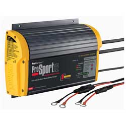 ProSport 12 Heavy-Duty Marine Battery Charger, 12A, 12/24V, 2 Bank Charger