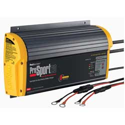ProSport 20 Heavy-Duty Marine Battery Charger, 20A, 12/24V, 2 Bank Charger