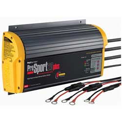ProSport 20 Plus Heavy-Duty Marine Battery Charger, 20A, 12/24/36V, 3 Bank Charger