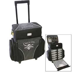 Rolling Tackle Bag with Five Removable 360 Tackle Trays, Medium