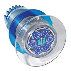 Gen III Series Underwater Light, 6 LED, Blue