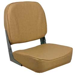 Low Back Folding Coach Seat, Tan