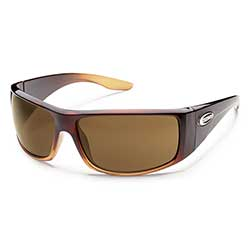 Pit Stop Polarized Sunglasses, Brown Fade with Brown Lenses