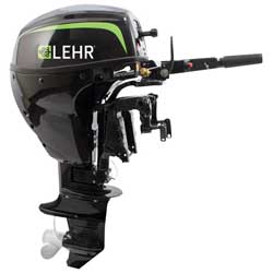9.9hp Propane Powered Outboard Engine, Short Shaft, Manual Start