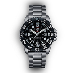 Luminox Steel Colormark 3150 Series Watch, Black Steel