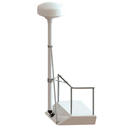 "Complete Pole Mount Assembly, 8' Pole Kit: 8' x 3"" Dia. Ttube, Adjustable Base, Closed Dome Radar Top, 48"" Strut, Rail Stand-off kit"