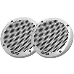 "6"" Shallow Mount Speakers, White"