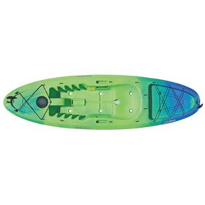 Abaco 9.5 Sit-On-Top Kayak, Lime/Blue